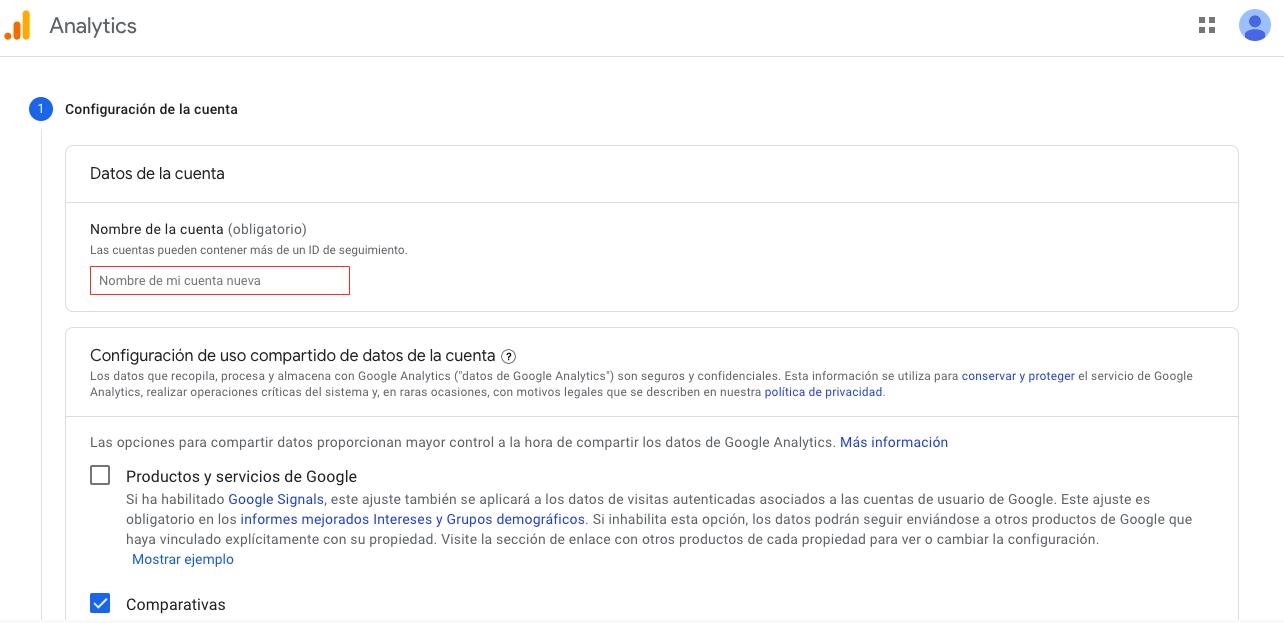 Configuración de Google Analytics